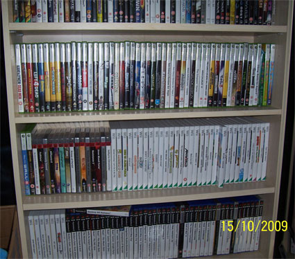 Games shelf.